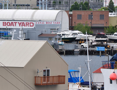 Canal boatyard stormwater treatment