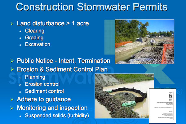 Construction Stormwater Permits