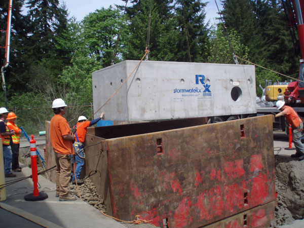 stormwater solution for pacific northwest power site