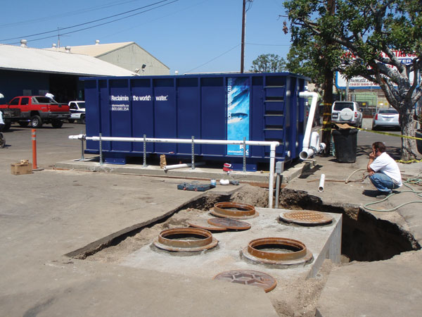 California Metal recycling stormwater treatment system