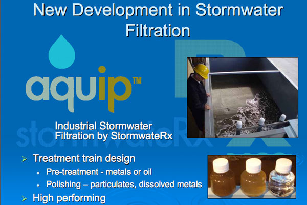 New Development in Stormwater Filtration