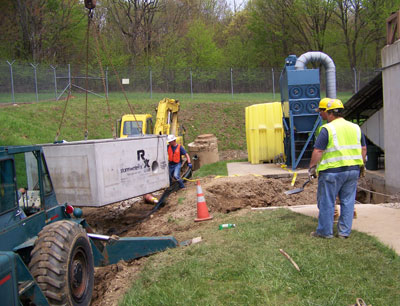 firing range stormwater treatment installation