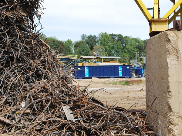 stormwater solutions scrap metal recycling facility in Lorton, Virginia