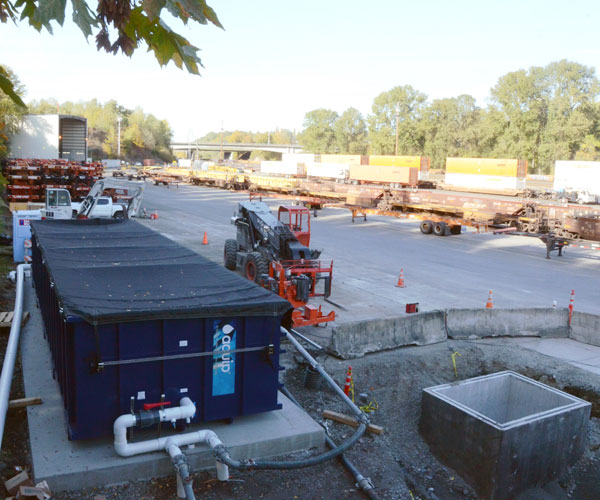 railyard stormwater treatment system zinc
