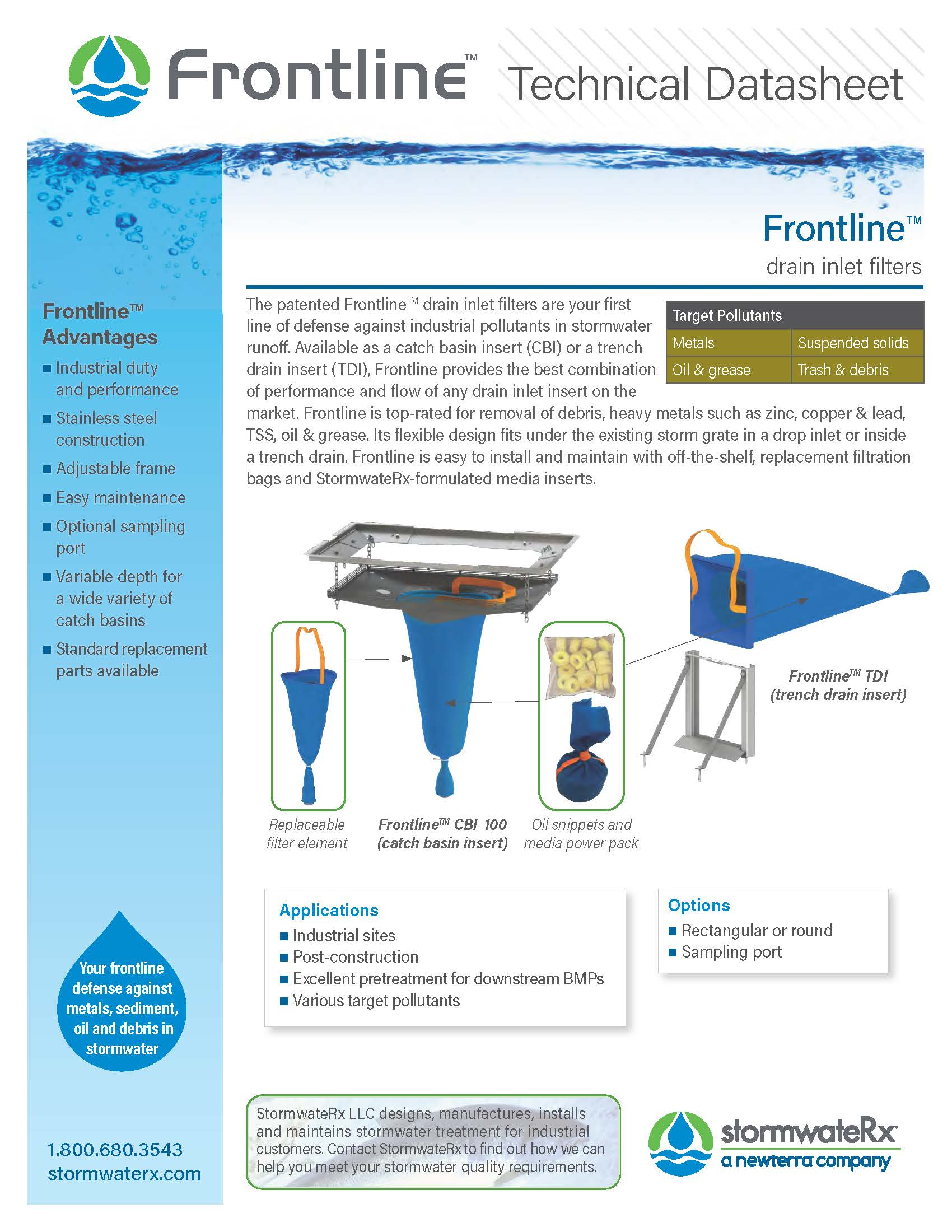 Frontline Drain Inlet Filters